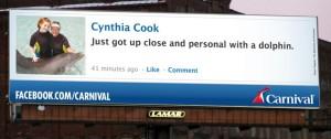 inbound and outbound Facebook post on billboard